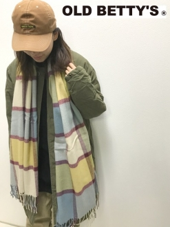 Herringbone Check Stole