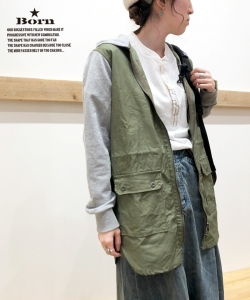 Born Military Remake Long Jacket